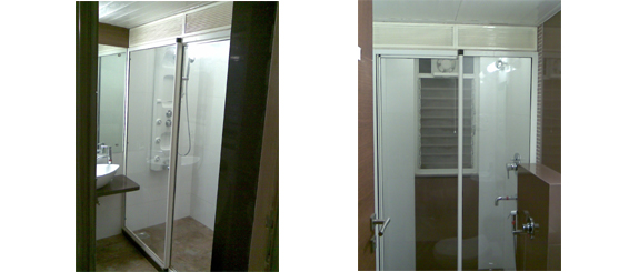 Aqua Shower Sliding Partitions